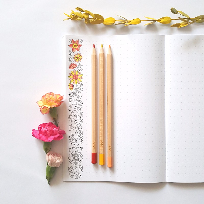 birds coloring notebook adult coloring bullet journal planner coloring page