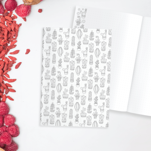 cacti dot grid notebook bullet journal suculents dot grid journal adult coloring notebook