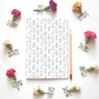 cacti dot grid notebook bullet journal suculents dot grid journal adult coloring notebook