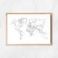 world map coloring postcard to diy travel map coloring page