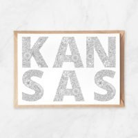 kansas coloring postcard, adult coloring postcard, kansas lettering, kansas state name, kansas state plaque