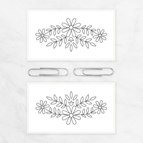 Medium Thermal Stickers Ornament Stickers Floral Frame Bullt Journal Decoration Planner Stickers Flowers Ornament