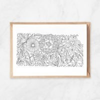 kansas coloring map, kansas map postcard, postcards from kansas, kansas state flower, kansas art, made in kansas, kansas yeahawks, kansas university postcard, adult coloring postcard