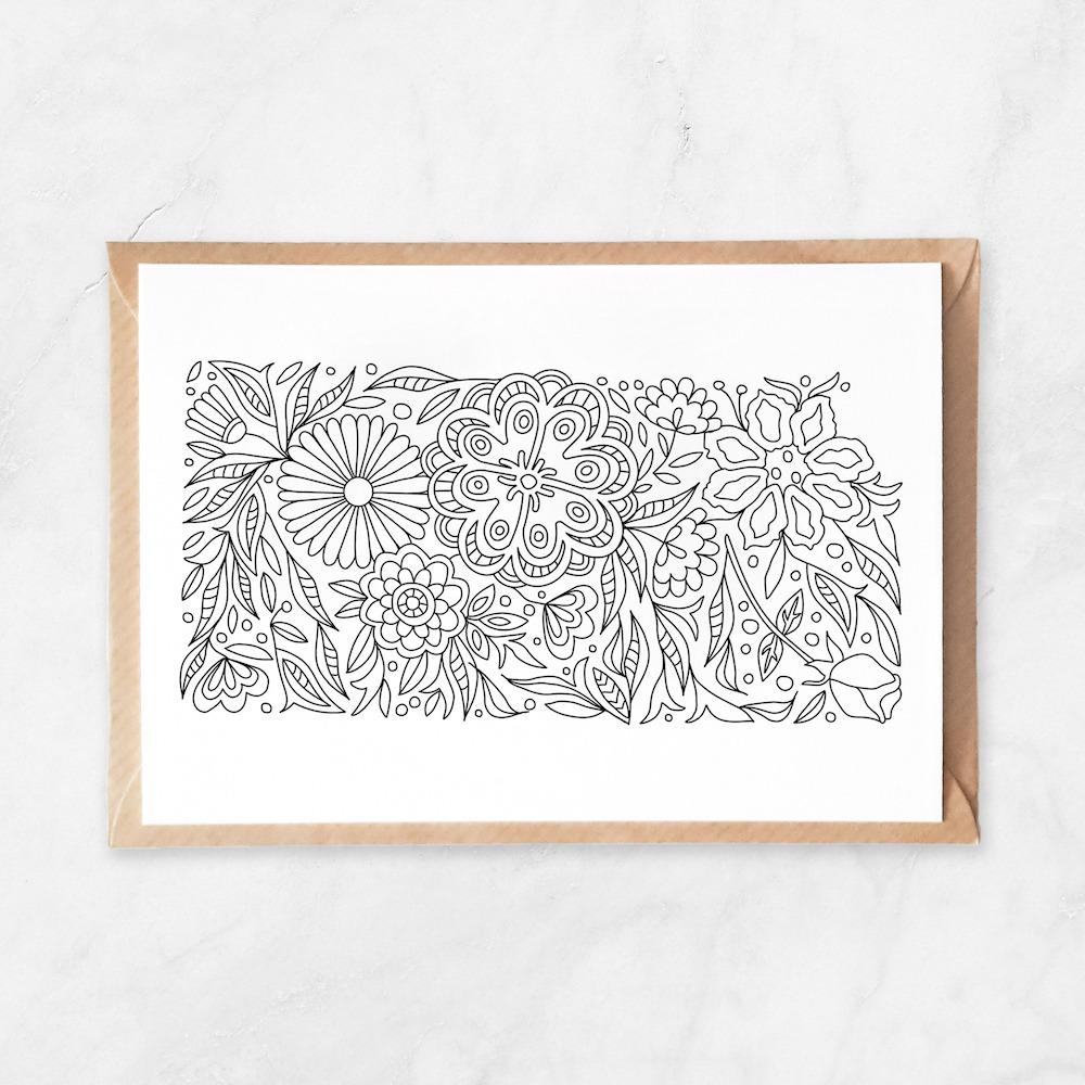 kansas coloring map, kansas map postcard, postcards from kansas, kansas state flower, kansas art, made in kansas, kansas yeahawks, kansas university postcard, adult coloring postcard
