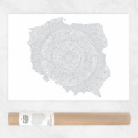 Mandala Coloring Map of Poland Aztec Mandala Pattern Coloring Page Polska