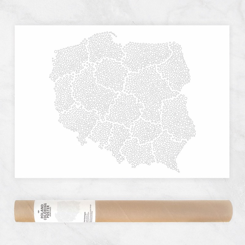 bubble coloring map bubbles pattern coloring page map of poland mapa polski polska travel to poland travel map