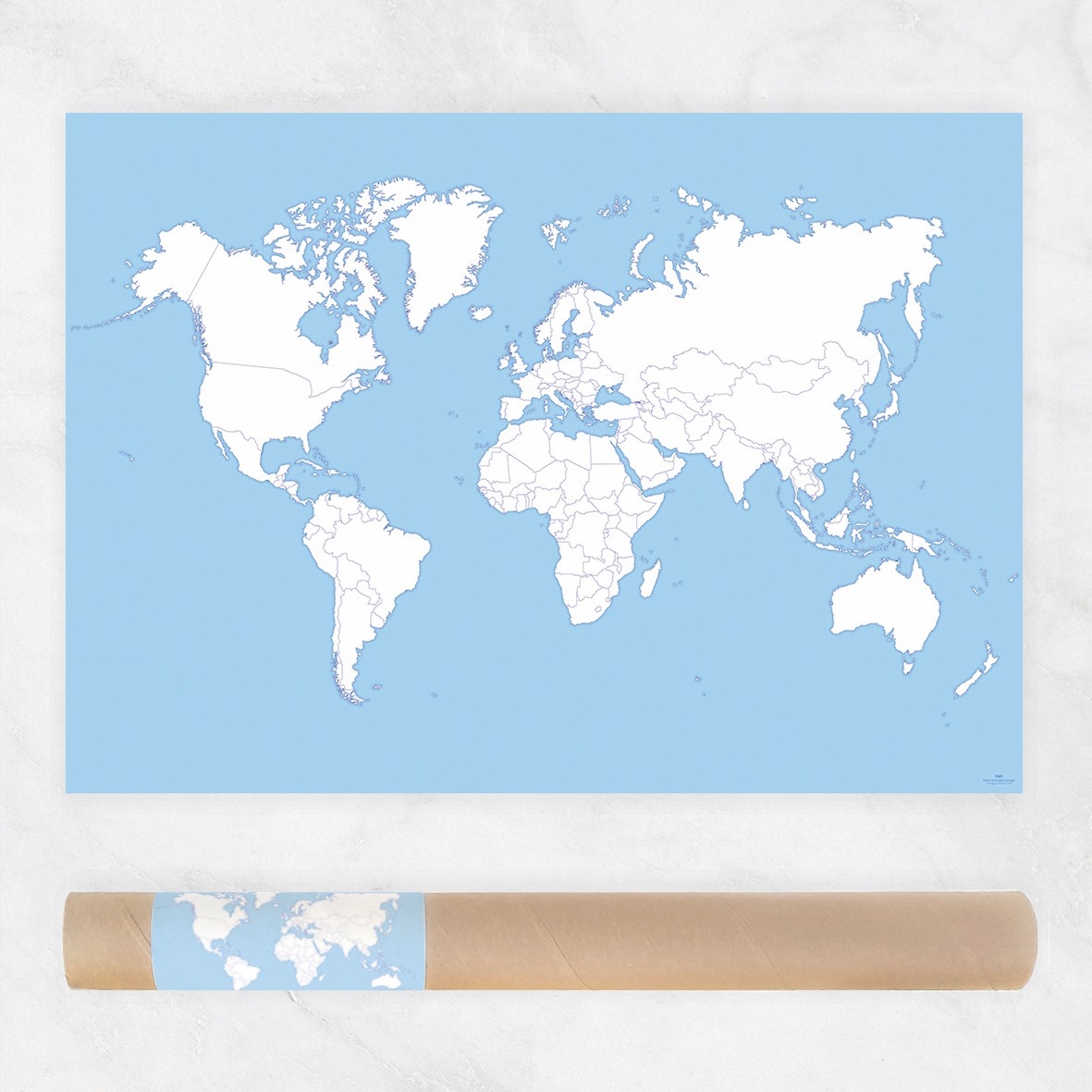Preorder coloring world map poster anna grunduls design coloring world map poster sale world publicscrutiny Gallery