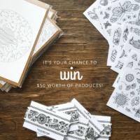 adult coloring stationery giveaway anna grunduls design
