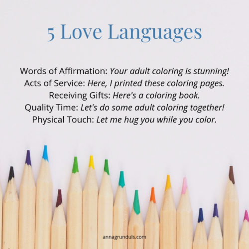 5 love languages as seen by adult coloring lovers adult colorists