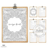 Recipe Book Printable Layout DIY Recipe Binder Inserts