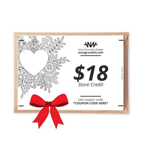 $18 Gift Cards Bar Mitzvah Gift Ideas For Girls Adult Coloring Bat Mitvah Mitzwah