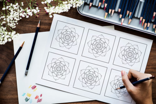 Woman Coloring Free Printable Color Palette Sample Cards
