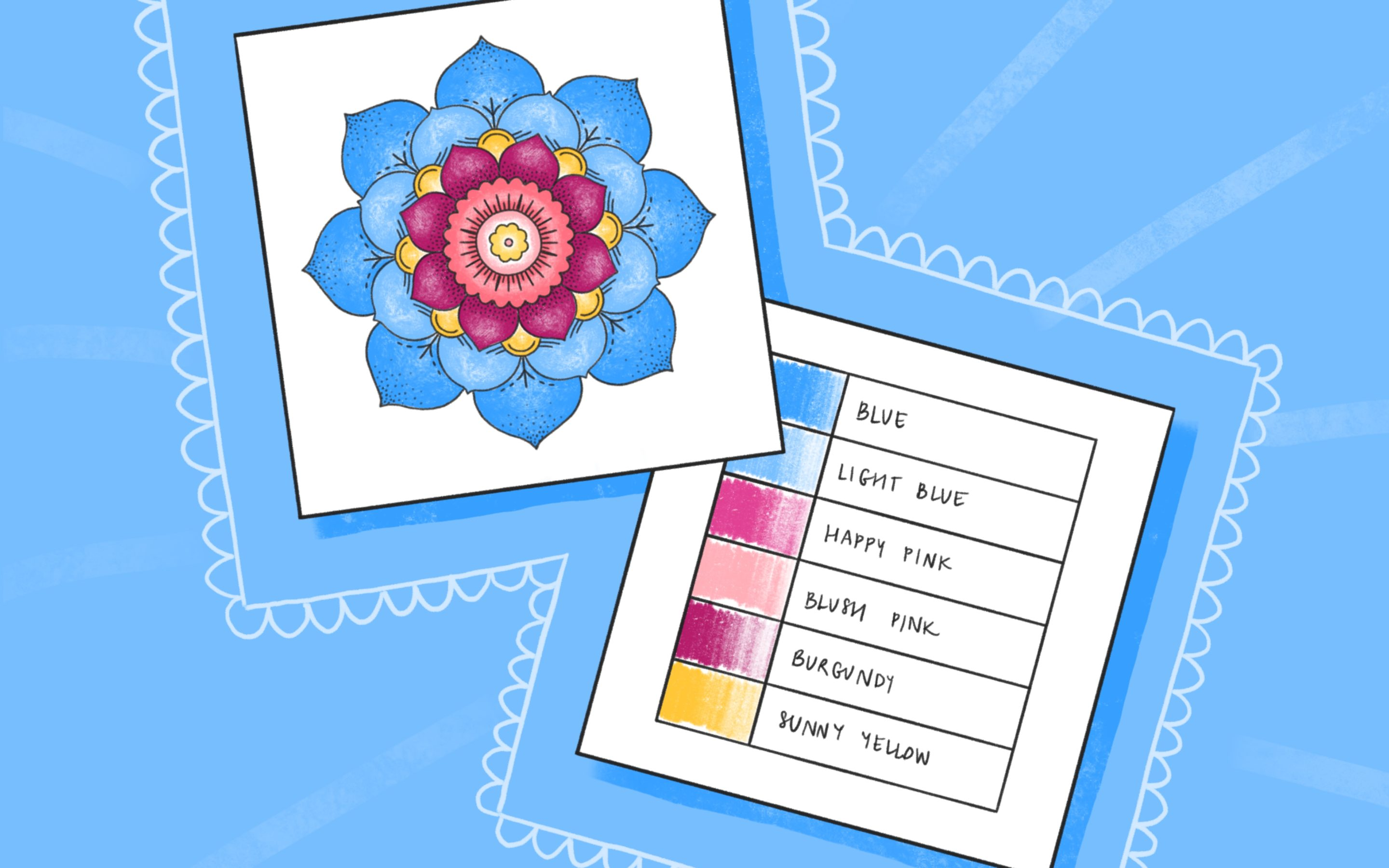 Color Palette Sample Cards – Free Printable