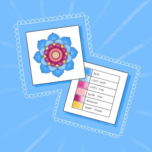 Color Palette Sample Cards – Free Printable