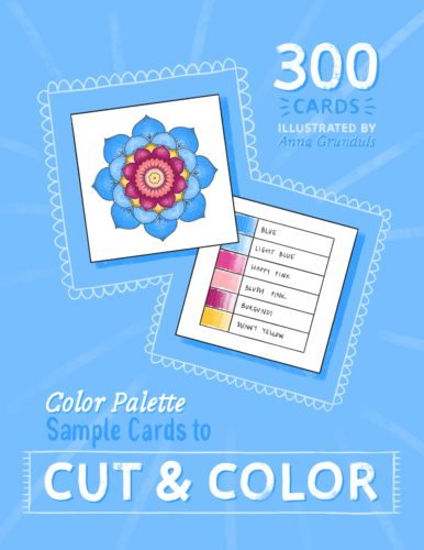 Color Palette Sample Cards Book on Amazon by Anna Grunduls Design