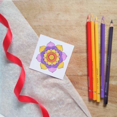 Arteza Expert Professional Colored Pencils Color Palette Sample Yellow Lilac Violet