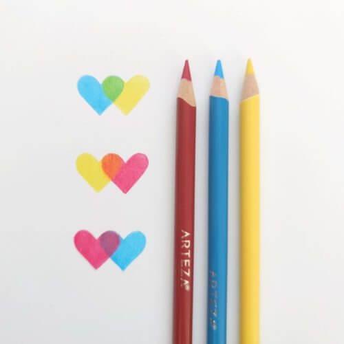 Arteza Expert Colored Pencils Dry Blending Test