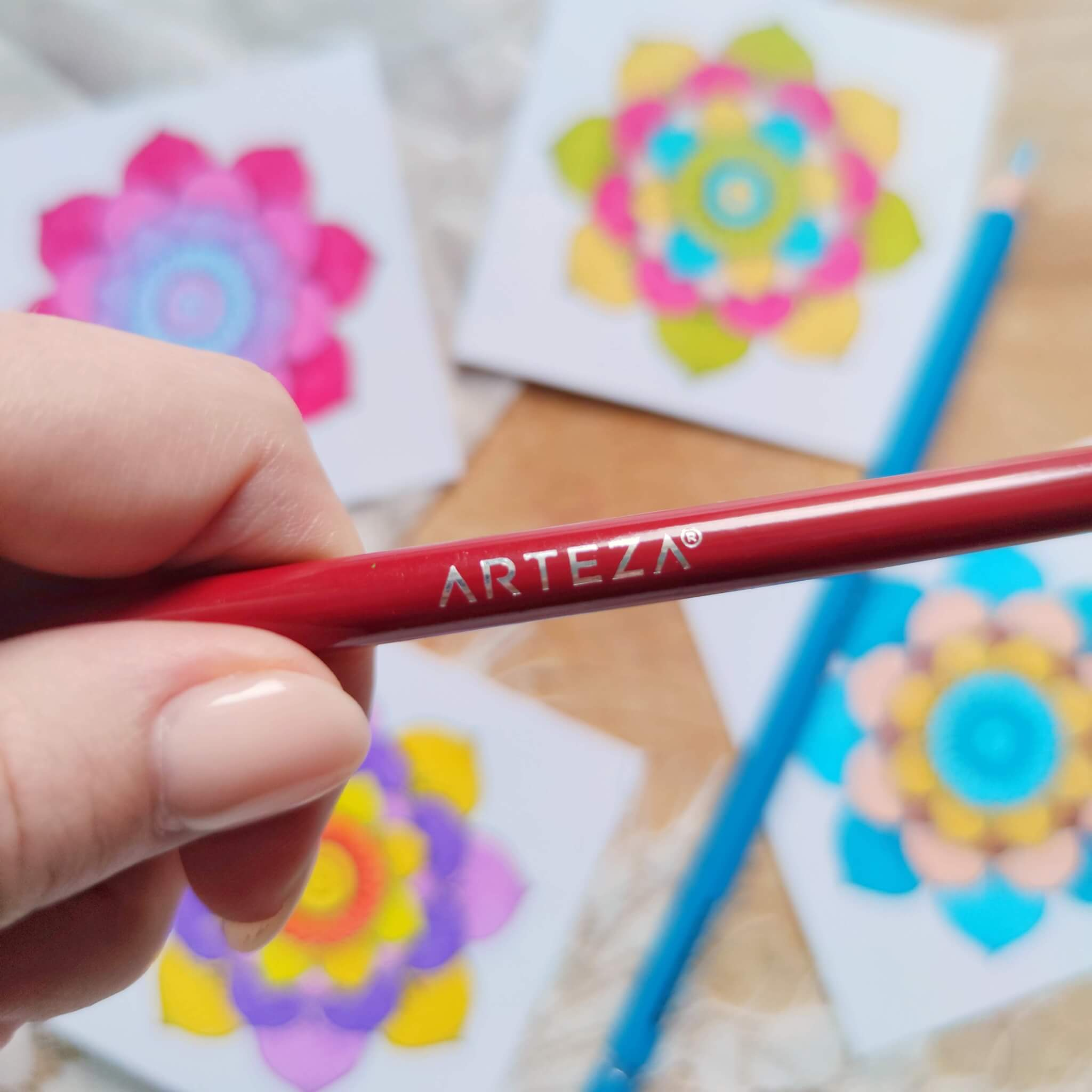 Arteza Expert Colored Pencil Close Up Logo Stamp Detail