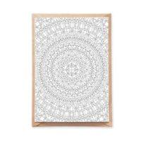 gems mandala coloring postcard