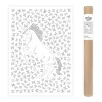 Unicorn Coloring Poster with Butterflies Large Coloring Page AnnaGrunduls515