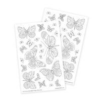 Butterflies Adult Coloring Stickers for Bullet Journaling