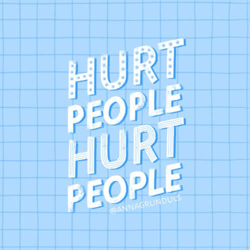 Hurt People Hurt People Letter Illustration