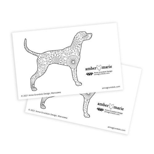 Dalmatian Coloring Stickers