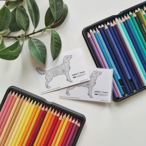dog breed stickers for adult coloring