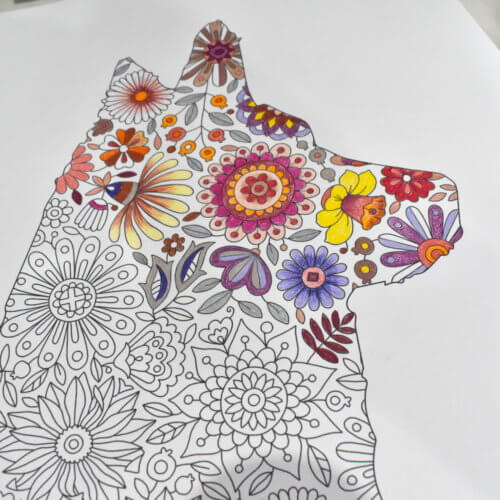 dog silhouette coloring page amber marie
