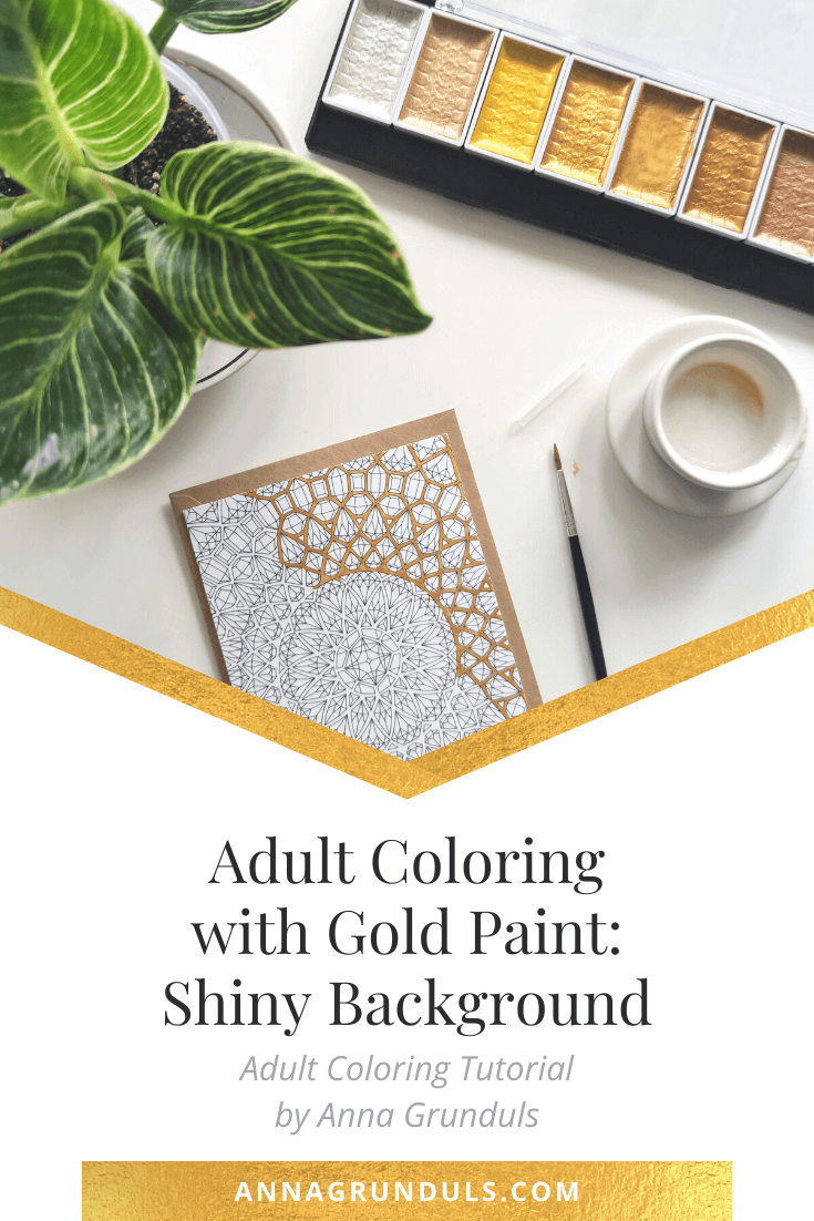Adult Coloring with Gold Paint