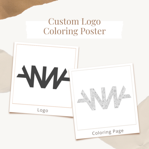 Custom Logo Coloring Poster Transformation Before After