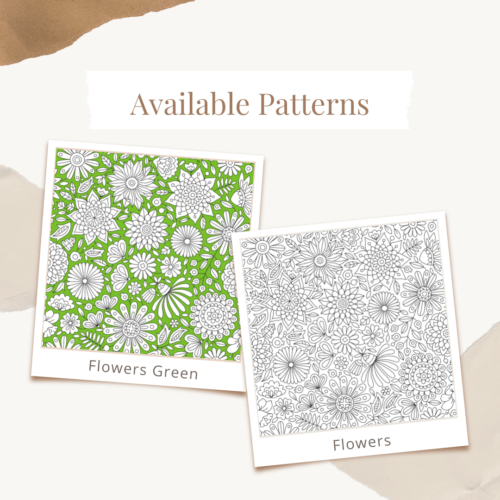 Custom Logo Coloring Poster Available Patterns Flowers