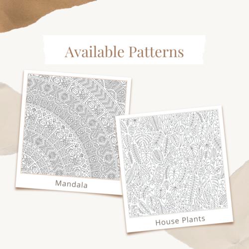 Custom Logo Coloring Poster Available Patterns Plants Mandala