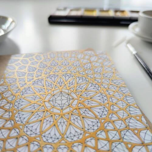 shiny gold paint for adult coloring pages